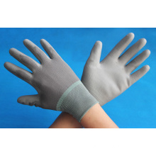 china grey PU coated working gloves