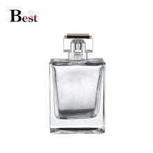 envases cosméticos 100 ml botella de perfume de cristal cuadrado claro de alta calidad vacío botella de perfume de vidrio bomba de perfume fantasía fabrica