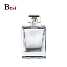 cosmetic packaging 100ml high quality clear square glass perfume bottle empty fancy spray pump glass perfume bottle manufactures