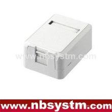 Caixa de superfície de 1 porta com macaco keystone de 1 pc ou sem