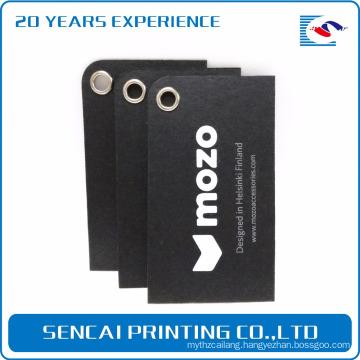SenCai Printed luxury design black Chinese hang tags