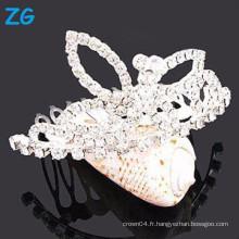Accessoires de cheveux en cristal, peignes, peignes en métal pour princesse, peigne de poux