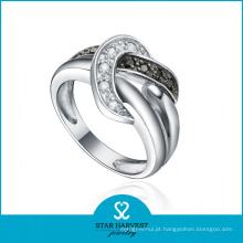 O OEM aceitou o projeto do anel da prata esterlina do grânulo 925 (R-0582)