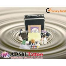 2013 fábrica de venda directa portátil e prático iniciante ou starter tattoo kits
