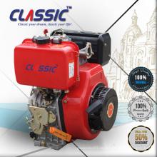 6HP Keilnutwelle Luftgekühlter elektrischer Startdieselmotor, luftgekühlte rote Farbe Neue 6HP kleine Dieselmotoren für Horizontaler Kühler