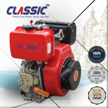 6HP Keyway Shaft Air Cooled Electric Starting Diesel Engine, Air Cooled Red Colour New 6HP Small Diesel Engines For Rotavator
