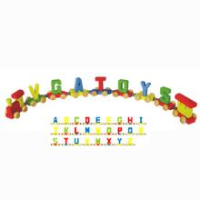 Color Wooden Train Letters (80094)