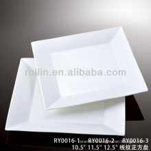 line series hot sale hotel&restaurant square white porcelain plates,charger plates,charger plates wholesale