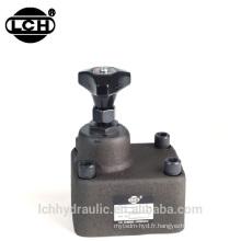 soupape de commande de débit hydraulique mécanique manuelle variable
