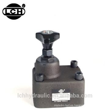 válvula de control de flujo hidráulico mecánico variable manual