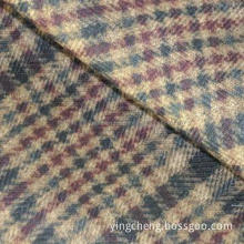 High cost performance polyester imitated TR plaid printed fabric for winter coat and men's shirt