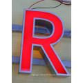 Lettres en acier inoxydable à DEL et à éclairage arrière