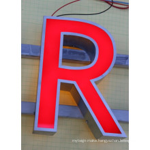 LED Face-Lit and Back-Lit Stainless Steel Letters