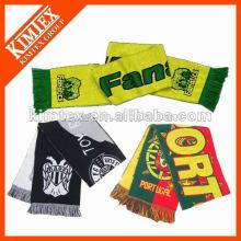 Invierno de acrílico de tejer bufanda de fútbol