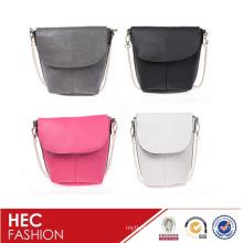 color pattern lady leather shoulder bag