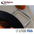 Gran sartén redonda antiadherente de marisco y barbacoa de aluminio