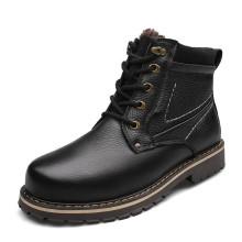 Venda de fábrica de porcelana venda alta classe inverno quente botas de pele para homens