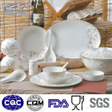 2014 new design elegant fine bone china porcelain dinner set with decal