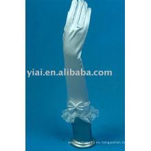 2013 guantes de nupcial del codo del arco del cordón con los dedos 010
