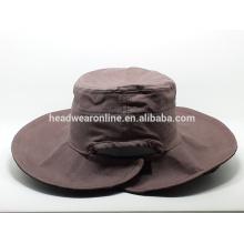 Bonnets et casquettes à godets 2015 personnalisés avec tissu de toile