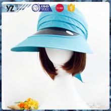 Fábrica Popular diseño único plástico clip sombrero visera con buen precio