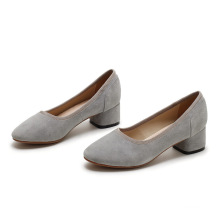 genuine leather gray orange thick soft sole shoes for women