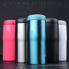 tasse à café en acier inoxydable avec couvercle Easy-Clean
