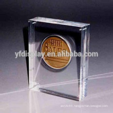 Crystal Clear Acrylic Coin Sand Embedment Paperweight