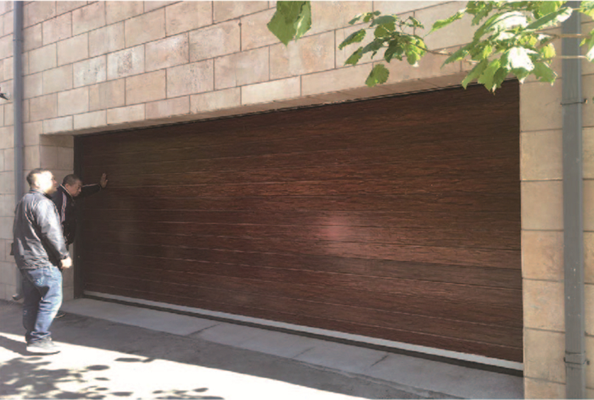 wooden grain spiral door