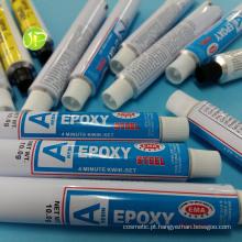 Adesivo de bisnagas de alumínio epóxi cola tubos alumínio tubos tubos de embalagem