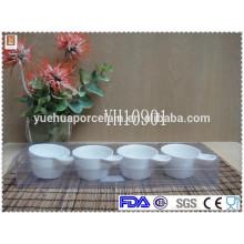 Pequeño tazón de fuente de cerámica de la salsa de la venta caliente con la venta al por mayor de la manija