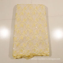 Beige White African Lace Fabric For Wedding Dresses