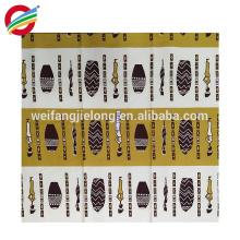 tela de impresión africana de la cera del precio bajo verdadero de buena calidad de buena calidad