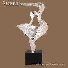 matériel décoratif moderne en polyrésine figurine abstraite en haute qualité