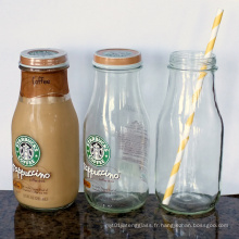 250ml 500ml Bouteille en verre à jus de lait 1000ml avec goupilles torsadées
