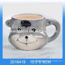 2016 nueva taza de cerámica del yogur del oso del lovel de la llegada, taza de cerámica de la mousse del yogur