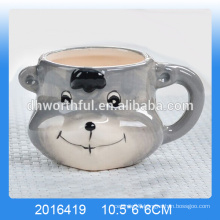 2016 new arrival lovel ceramic bear yogurt cup,ceramic yogurt mousse cup
