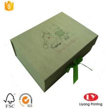 Caja de embalaje de regalo de papel kraft marrón