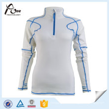 Frauen-Entwurfs-Sportkleidung-langes Hülsen-Trainings-Hemd