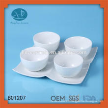 small ceramic bowl with plate,SGS/FDA/LFGB certification ceramic bowl with plate,food safe porcelain bowl sets