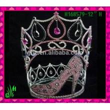 El nuevo Rhinestone al por mayor calza la tiara de la corona