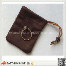 Сделанный на заказ малый мешок ювелирных изделий Drawstring (DH-MC0334)