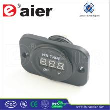 Daier voiture / moto 12v panneau numérique voltmètre prise de courant