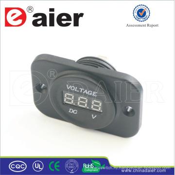 Daier автомобиля/мотоцикла 12В цифровой панели вольтметр Розетка