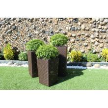 Best Selling Patio PE Poly Rattan Pflanzer - Set von 3