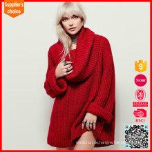 Neueste Design Damen Chunky Pullover lange Ärmel slouchy übergroßen Pullover