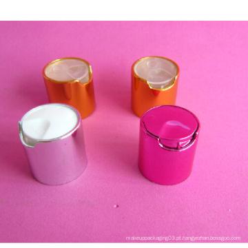 24-410 Metallic Disc-on Cap sem garrafa de cosméticos
