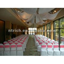 couverture de chaise, housse de fauteuil polyester CTV591, tissu épais 200GSM, durable et facile de mariage lavable