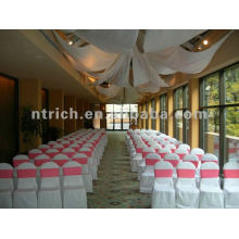 wedding chair cover,CTV591 polyester chair cover,200GSM thick fabric,durable and easy washable