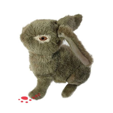 Country Dog Toy Plush Stuffed Rabbit Pet Toy